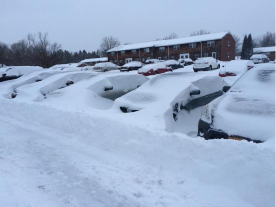 冬天日常的室外活动必须是挖车,由于地广人稀,买车是比较方便的生活方式。不过校车也会有周末的线路专门去到校外周围的各个大超市
