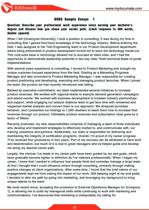 优秀Essay范文模板 第8页